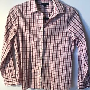 Long Sleeved Plaid Button Up Shirt